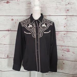 Vintage Roper Denver, CO Western Snap Front Shirt